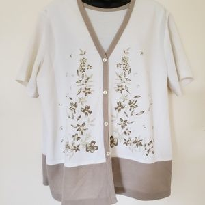 White and cream Blouse